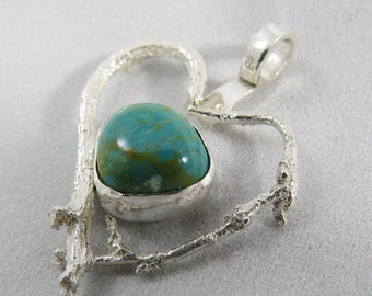 Organic Heart with Turquoise