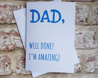 Fathers day card, Card for dad, Funny fathers day, Dad card, Cards for dad, Funny card, Dad birthday, Funny birthday card, Dad gift, Dad