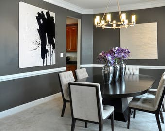Black & White canvas, Black White art, Black White painting, Abstract Painting, Oil Painting, Large Decor Art, Large Wall Art, Abstract Art