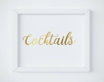 Alcohol Wedding Sign, Gold Alcohol Sign, Cocktails Bar Sign, Gold Wedding Sign Printable, Cute Wedding Decor, gold sign INSTANT DOWNLOAD