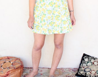 Vintage 60's Floral A-Line Mini Skirt