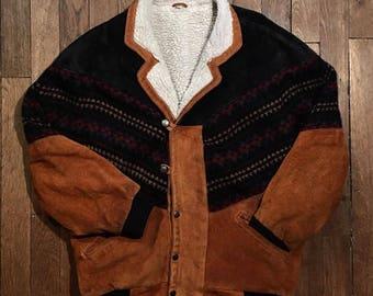 Aztec suede jacket