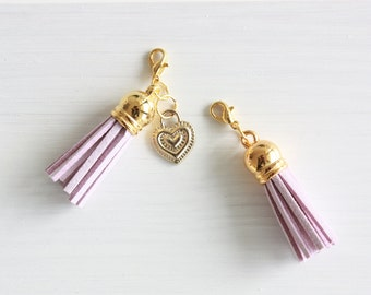Lila and gold planner tassel