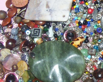LARGE MIXED LOT of Beads Including 2 Nice Pendants