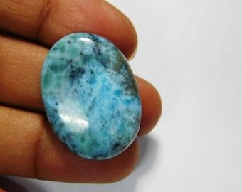 Top Rare! Larimar, natural larimar cabochon gemstone, larimar loose gemstone, larimar gemstone, sky blue larimar loose stone 52 Cts. #1369N