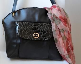 "Black handbag, two ""faux"" different - Ref.s30"