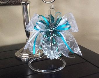 Silver pinecone ornament, pinecone ornaments, spring ornaments, Christmas ornaments, pinecone crafts, handmade ornaments, holiday ornaments