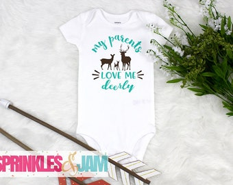 Deer Onesie ®, Boho Baby, Baby Boy Coming Home Onesie ®, Baby Shower Gift, Rustic Baby Clothes