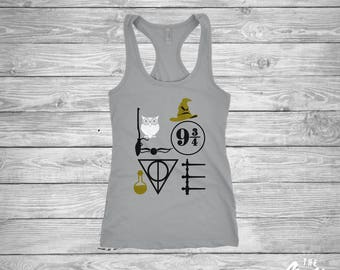 Love Harry Potter shirt - Hogwarts - Disney - Ladies