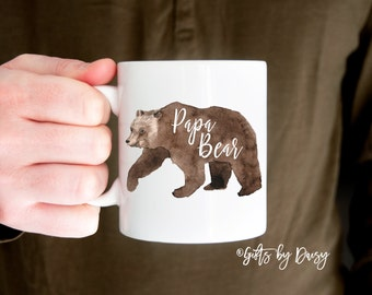 Gifts for dad, Gifts for him, Papa Bear Mug Funny Coffee Mug, Novelty Gifts for Him new dad gift, mother's day gift, gift for husband m-347