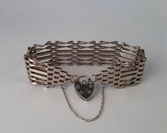 Sterling Sweetheart Bracelet with heart padlock