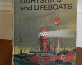 The Story of Lighthouses Lightships and Lifeboats vintage Ladybird book 1968