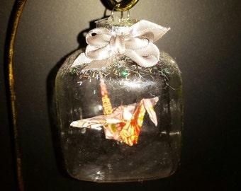 Origami Crane Ornament