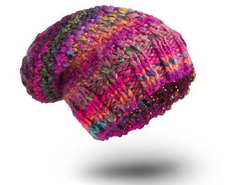 Thick Hat Chunky India Wool hat for women beanie hat  chunky hand knit hat