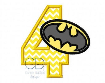 Batman Applique Design, Batman Embroidery Design, Batman Logo Applique, Batman Birthday Applique Design, Batman Birthday Embroidery