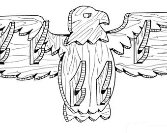 Eagle Clothes Rack #508 - Woodworking / Craft Pattern