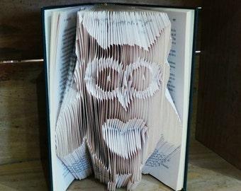 Owl - Folded Book Art - Home Decor - Book Lover - Gift - Handmade - Paper - Woodland - Animal