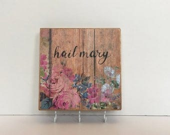 Rosary Wood Wall Plaque