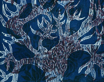 original printmaking - woodcut-linocut- Arbre-esprit 2 sur 30 -