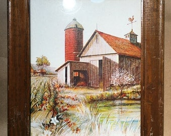 Rustic Farmhouse Prints - Farmhouse Decor - Farm Scene