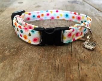 Jolly pattern dog collar (small 3/8'')
