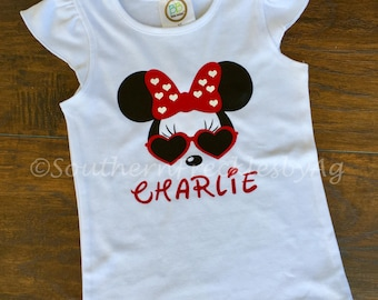 Minnie Mouse Girl's Shirt Disney Sunglasses