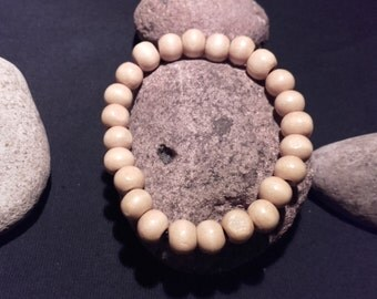 Natural color wood Beads Bracelet