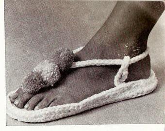 Vintage Sandals Crochet Pattern