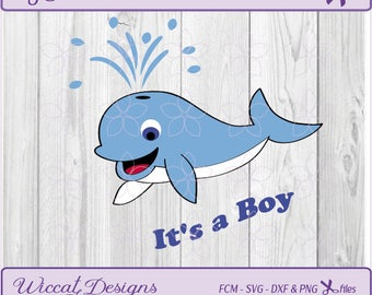 Dolphin svg, Whale svg, svg files for boys, Sea animals svg, whale vector, whale nursery, baby svg, fcm File, digital cut file, dolphin dxf