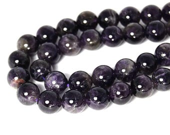 "Two 15.5"" strands, Amethyst Beads (AB) Round 10mm"