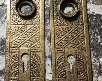 Eastlake Victorian Door plates ~ Original