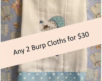 Buy 2 Burp Cloths and Save!