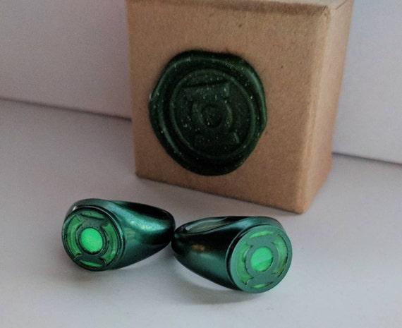 injustice emerald green lantern ring replica