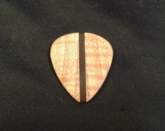 Flamed Maple Guitar pick with Brazilian Rosewood stripe