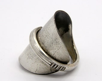 Spoon Thumb Ring - Size 13 - Hand Bent By The CrafsMan - Steady Craftin'