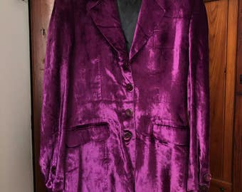 Purple velvet Jacket by Sem Vaccaro