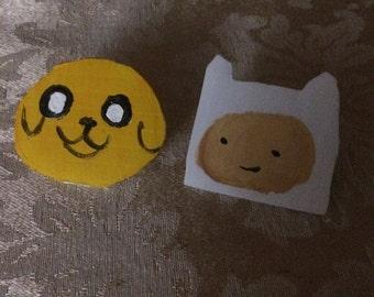 Finn Jake Adventure Time Pin