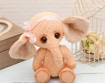 Vintage Teddy bear elephant Sofi handmade toy gift