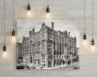 Old Minneapolis Photo, West Hotel, Minneapolis Minnesota, Minneapolis Art, 1905, Black White Photography