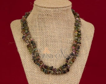 Earthy jade necklace in two layers