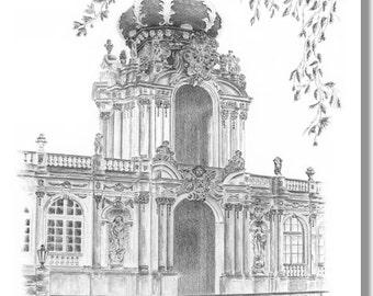 Dresden Zwinger - original signed art print