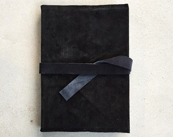 Black Leather Book Cover and Art Diary