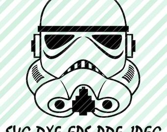 Star Wars Stormtrooper Darth Vader SVG DXF File for Cricut Design Space Cameo Silhouette Studio Vinyl Cut File Screen Printing Storm Trooper