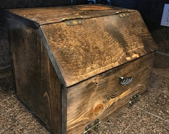 Bread box made from knotty  Pine
