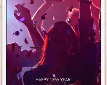 Happy New Year 2017 Snapchat Geofilter,  Personalized New Years Eve Party Geofilter, NYE Party, New Years Eve Geofilter, Sparklers, 2017