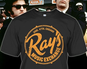 Blue Brothers Tee - Rays Music Shop Shirt for Fans - Blue Brothers Gift - Blue Brothers Hoodie - Sizes Up to 5XL!