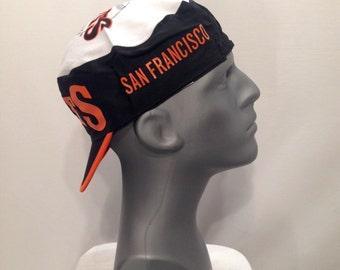 80s Deadstock San Francisco GIANTS Painters Hat / Vintage Major League BASEBALL San Francisco Giants Cycle Cap Never Worn Like NEW