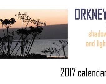 Orkney calendar, 2017 calendar, photography calendar, landscape photography, nature photography, Orkney photography, wall calendar, planner