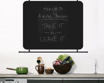 CHALKBOARD VINYL DECAL, Custom Made Chalkboard Vinyl Wall, Fridge, Glass, Mirror Decal for Memo, Menu, Reminders, Phones, Messages, others