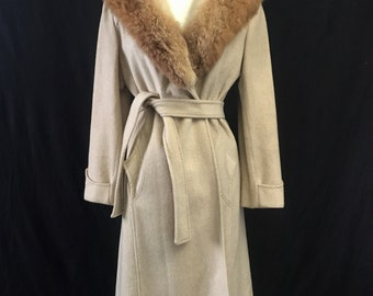 Fur Collar Belted Trench